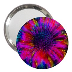 Flowers With Color Kick 3 3  Handbag Mirrors