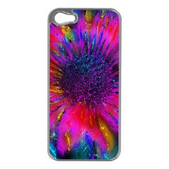 Flowers With Color Kick 3 Apple Iphone 5 Case (silver)