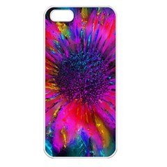 Flowers With Color Kick 3 Apple Iphone 5 Seamless Case (white)
