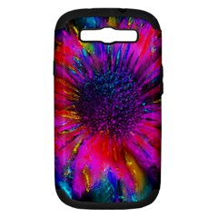 Flowers With Color Kick 3 Samsung Galaxy S Iii Hardshell Case (pc+silicone)
