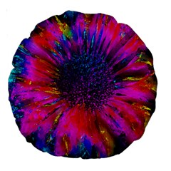 Flowers With Color Kick 3 Large 18  Premium Round Cushions