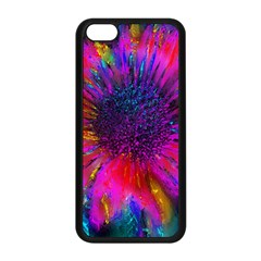 Flowers With Color Kick 3 Apple Iphone 5c Seamless Case (black)