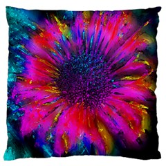 Flowers With Color Kick 3 Large Flano Cushion Case (two Sides)