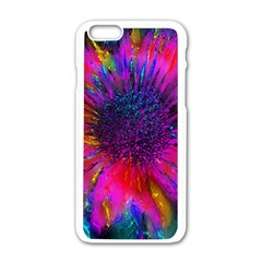 Flowers With Color Kick 3 Apple Iphone 6/6s White Enamel Case