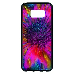 Flowers With Color Kick 3 Samsung Galaxy S8 Plus Black Seamless Case