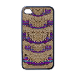 Pearl Lace And Smiles In Peacock Style Apple Iphone 4 Case (black)