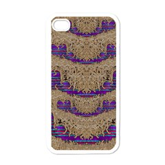 Pearl Lace And Smiles In Peacock Style Apple Iphone 4 Case (white)