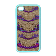 Pearl Lace And Smiles In Peacock Style Apple Iphone 4 Case (color)