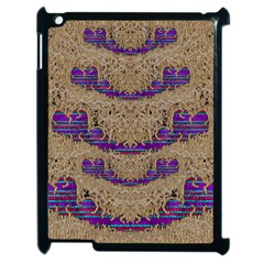 Pearl Lace And Smiles In Peacock Style Apple Ipad 2 Case (black)