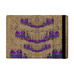 Pearl Lace And Smiles In Peacock Style Apple Ipad Mini Flip Case