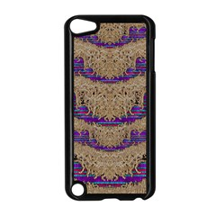Pearl Lace And Smiles In Peacock Style Apple Ipod Touch 5 Case (black)