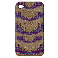 Pearl Lace And Smiles In Peacock Style Apple Iphone 4/4s Hardshell Case (pc+silicone)