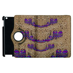 Pearl Lace And Smiles In Peacock Style Apple Ipad 3/4 Flip 360 Case