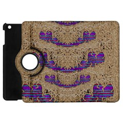 Pearl Lace And Smiles In Peacock Style Apple Ipad Mini Flip 360 Case
