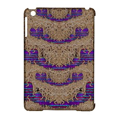 Pearl Lace And Smiles In Peacock Style Apple Ipad Mini Hardshell Case (compatible With Smart Cover)