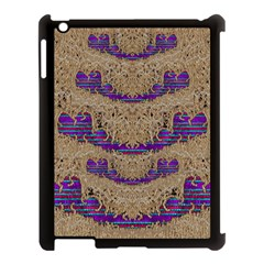 Pearl Lace And Smiles In Peacock Style Apple Ipad 3/4 Case (black)