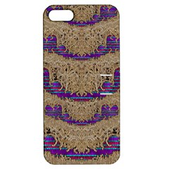 Pearl Lace And Smiles In Peacock Style Apple Iphone 5 Hardshell Case With Stand