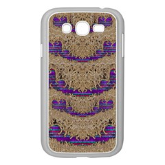 Pearl Lace And Smiles In Peacock Style Samsung Galaxy Grand Duos I9082 Case (white)