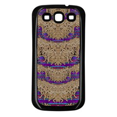 Pearl Lace And Smiles In Peacock Style Samsung Galaxy S3 Back Case (black)