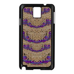 Pearl Lace And Smiles In Peacock Style Samsung Galaxy Note 3 N9005 Case (black)