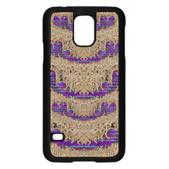 Pearl Lace And Smiles In Peacock Style Samsung Galaxy S5 Case (black)