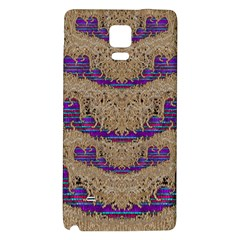 Pearl Lace And Smiles In Peacock Style Galaxy Note 4 Back Case
