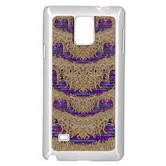 Pearl Lace And Smiles In Peacock Style Samsung Galaxy Note 4 Case (white)