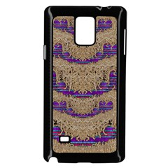 Pearl Lace And Smiles In Peacock Style Samsung Galaxy Note 4 Case (black)