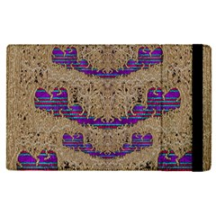 Pearl Lace And Smiles In Peacock Style Apple Ipad Pro 12 9   Flip Case