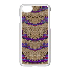 Pearl Lace And Smiles In Peacock Style Apple Iphone 7 Seamless Case (white)