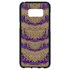Pearl Lace And Smiles In Peacock Style Samsung Galaxy S8 Black Seamless Case