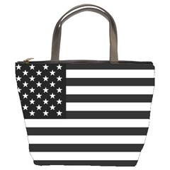 Flag Of Usa Black Bucket Bags