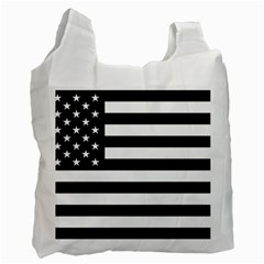 Flag Of Usa Black Recycle Bag (one Side)