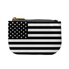 Flag Of Usa Black Mini Coin Purses