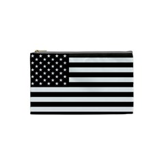 Flag Of Usa Black Cosmetic Bag (small)
