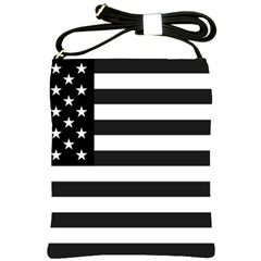 Flag Of Usa Black Shoulder Sling Bags