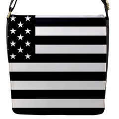 Flag Of Usa Black Flap Messenger Bag (s)