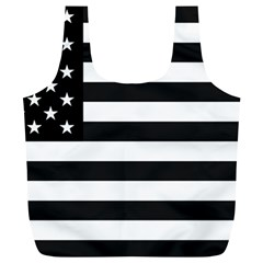 Flag Of Usa Black Full Print Recycle Bags (l)