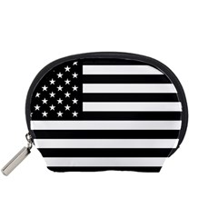 Flag Of Usa Black Accessory Pouches (small)