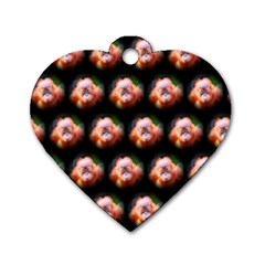 Cute Animal Drops  Baby Orang Dog Tag Heart (two Sides)