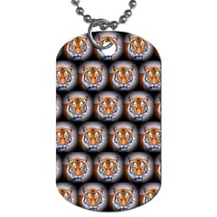 Cute Animal Drops   Tiger Dog Tag (one Side)