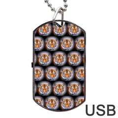 Cute Animal Drops   Tiger Dog Tag Usb Flash (two Sides)