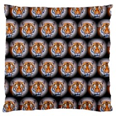 Cute Animal Drops   Tiger Large Cushion Case (one Side)