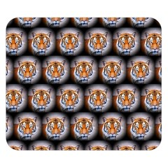 Cute Animal Drops   Tiger Double Sided Flano Blanket (small)