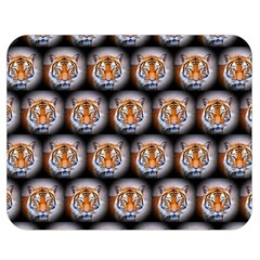 Cute Animal Drops   Tiger Double Sided Flano Blanket (medium)
