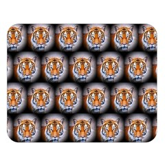 Cute Animal Drops   Tiger Double Sided Flano Blanket (large)