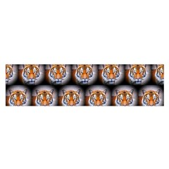 Cute Animal Drops   Tiger Satin Scarf (oblong)