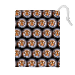 Cute Animal Drops   Tiger Drawstring Pouches (extra Large)