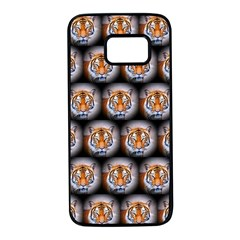 Cute Animal Drops   Tiger Samsung Galaxy S7 Black Seamless Case