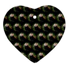 Cute Animal Drops   Red Panda Ornament (heart)